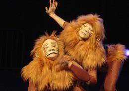 Création costume animal singe spectacle acrobate Multicréation, Paris